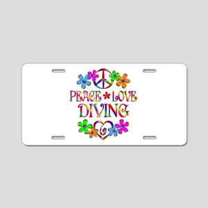 Peace Love Diving Aluminum License Plate