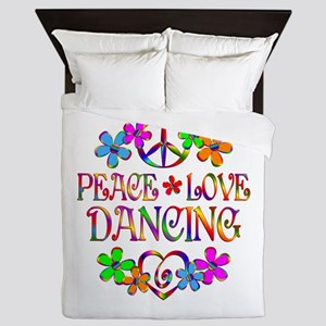 Peace Love Dancing Queen Duvet