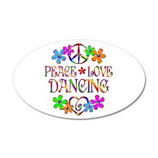 Peace Love Dancing Wall Decal