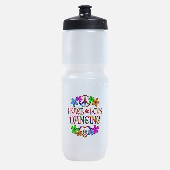 Peace Love Dancing Sports Bottle