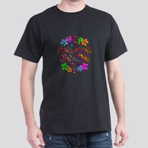Peace Love Dancing Dark T-Shirt