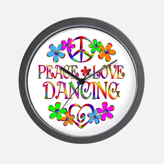 Peace Love Dancing Wall Clock