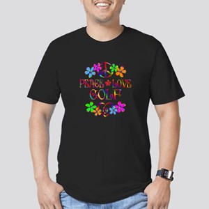 Peace Love Golf Men's Fitted T-Shirt (dark)