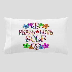 Peace Love Golf Pillow Case