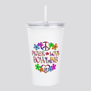 Peace Love Bowling Acrylic Double-wall Tumbler
