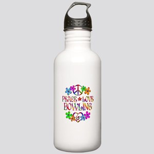 Peace Love Bowling Stainless Water Bottle 1.0L