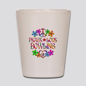 Peace Love Bowling Shot Glass
