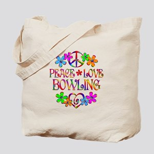 Peace Love Bowling Tote Bag