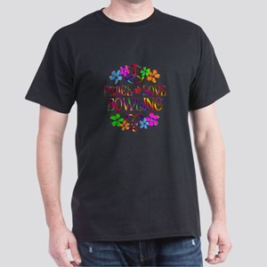 Peace Love Bowling Dark T-Shirt
