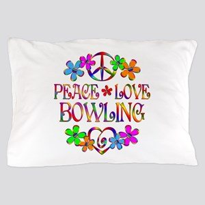 Peace Love Bowling Pillow Case