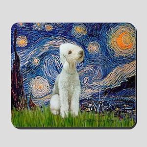 Starry Night Bedlington Mousepad