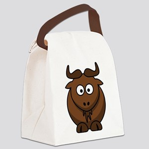 Cartoon Gnu Canvas Lunch Bag