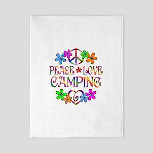 Peace Love Camping Twin Duvet