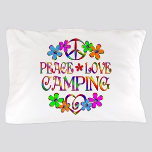 Peace Love Camping Pillow Case