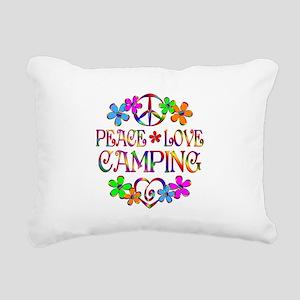 Peace Love Camping Rectangular Canvas Pillow