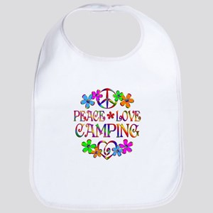 Peace Love Camping Bib