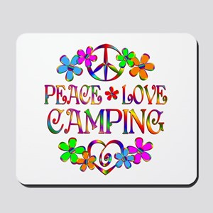 Peace Love Camping Mousepad