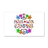 "Peace love camping 12"" x 20"""