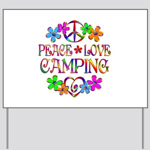 Peace Love Camping Yard Sign