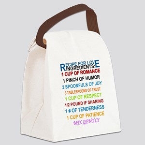 RECIPE FOR LOVE Canvas Lunch Bag