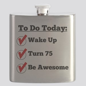 75th Birthday Checklist Flask