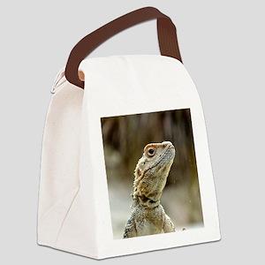 nosy Lizard Canvas Lunch Bag