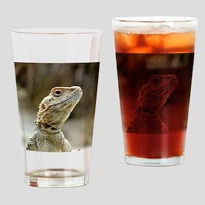 nosy Lizard Drinking Glass