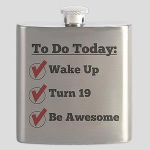 19th Birthday Checklist Flask