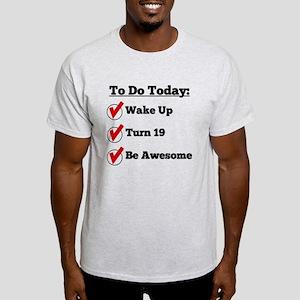19th Birthday Checklist T-Shirt