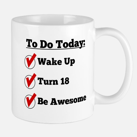 18th Birthday Checklist Mugs