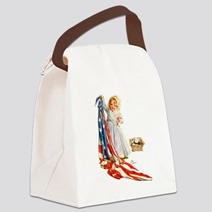 Maud Humphrey - Betsy Ross Sews t Canvas Lunch Bag