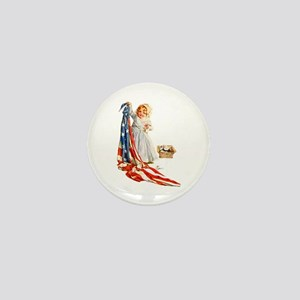 Maud Humphrey - Betsy Ross Sews the Am Mini Button