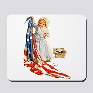 Maud Humphrey - Betsy Ross Sews the Amer Mousepad
