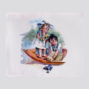 Maud Humphrey - Boston Tea Party Throw Blanket