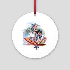 Maud Humphrey - Boston Tea Party Ornament (Round)