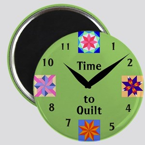 Time to Quilt Round Magnet