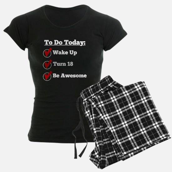 18th Birthday Checklist Pajamas