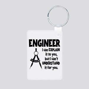 ENGINEER (both sides) Aluminum Photo Keychain