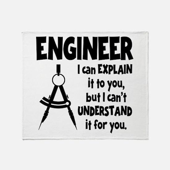 ENGINEER COMPASS Throw Blanket
