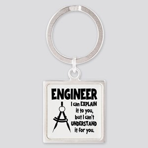 ENGINEER COMPASS Square Keychain