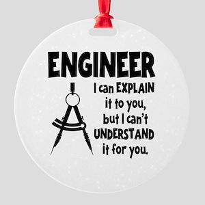 ENGINEER COMPASS Round Ornament