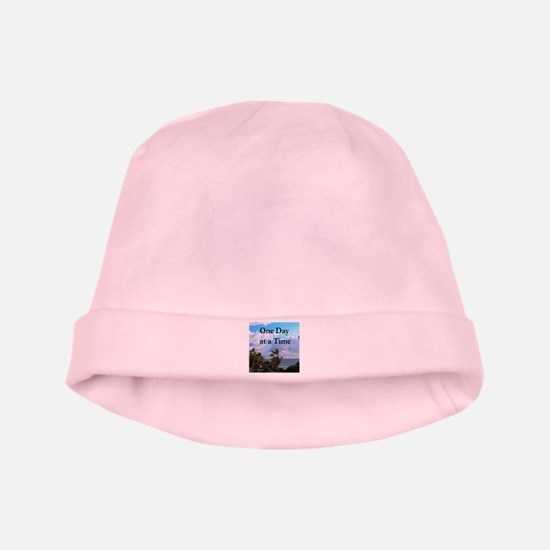 ONE DAY AT A TIME baby hat