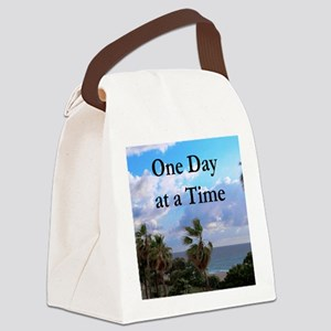 ONE DAY AT A TIME Canvas Lunch Bag