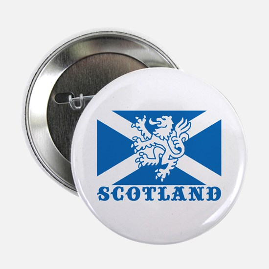 Flag of Scotland with Lion Button