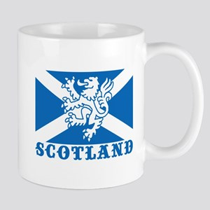 Flag of Scotland with Lion Mug