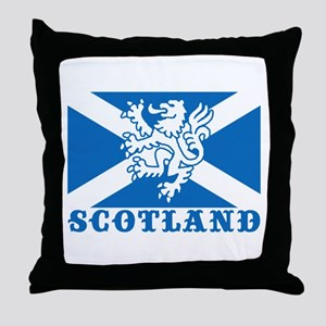 Flag of Scotland with Lion Throw Pillow