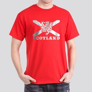 Flag of Scotland with Lion Dark T-Shirt