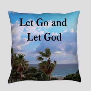 LET GO AND LET GOD Everyday Pillow