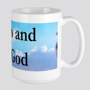 LET GO AND LET GOD Large Mug