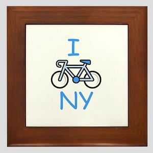 I Bike NY Framed Tile